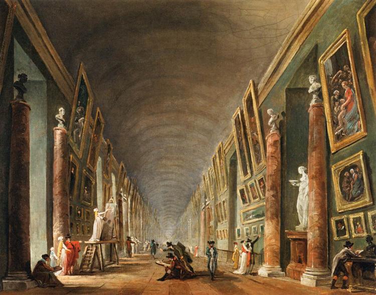 The Grande Galerie, 1795 - Hubert Robert