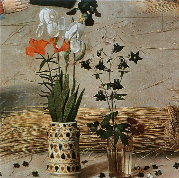 Flower (detail from the central panel of the Portinari Altarpiece), c.1479 - Hugo van der Goes