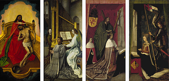 The Trinity Altar Panels, 1478 - Hugo van der Goes