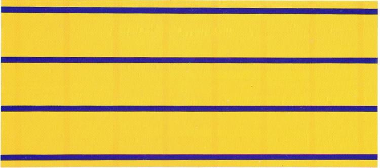 Yellow Blue Equivalence, 1966 - Ian Burn