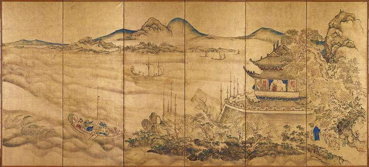 Landscape with Yueyang Tower, 1750 - Икэ-но Тайга