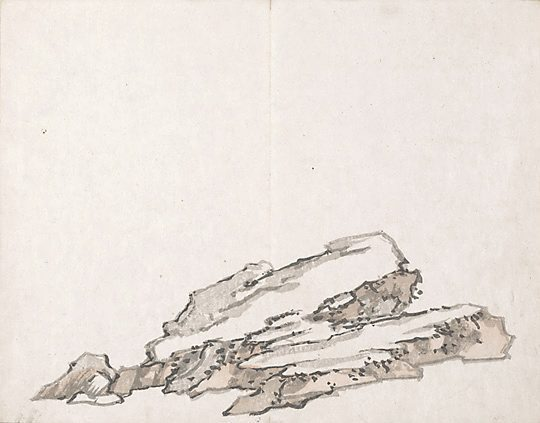 Untitled (Rocks) - Ike no Taiga