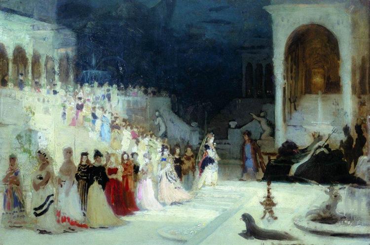 Ballet scene, 1875 - Ilya Repin