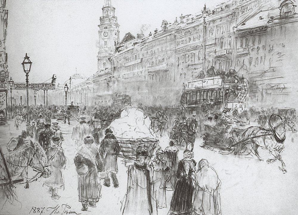 Nevsky Avenue, 1887