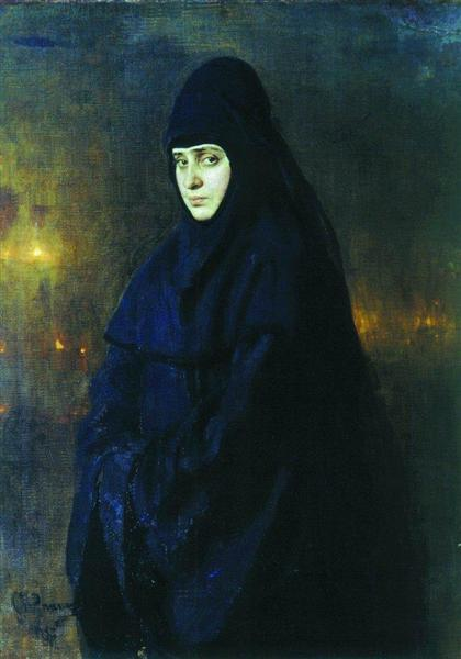 Nun, 1887 - Ilya Repin