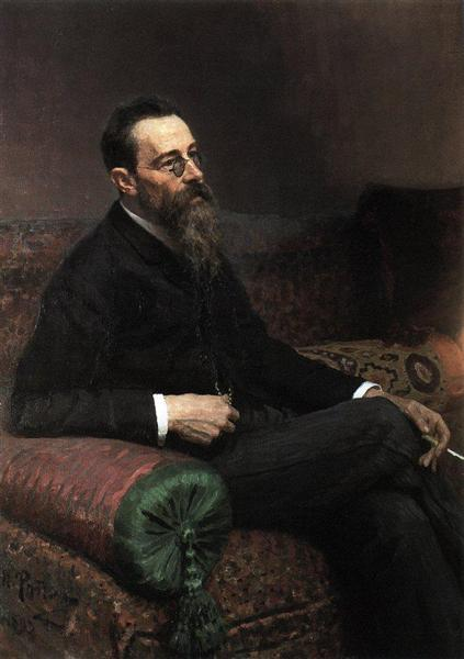 Portrait of the Composer Nikolay Rymsky-Korsakov, 1893 - Ilya Repin
