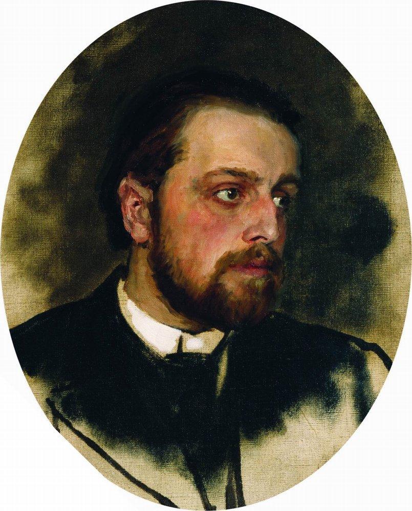 Portrait of writer Vladimir Grigorievich Chertkov, 1890