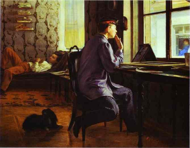 Preparation for the Examination, 1864 - Ilya Repin
