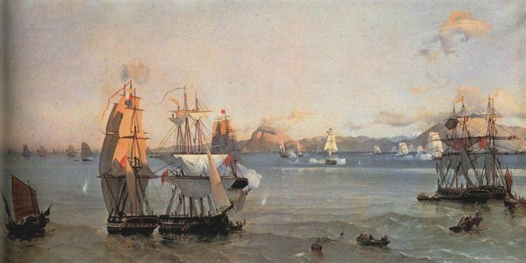 Sea Battle at the Bay of Patrae, 1874 - Иоаннис Алтамурас