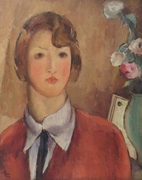 The Girl in Red, 1927 - Ion Theodorescu-Sion