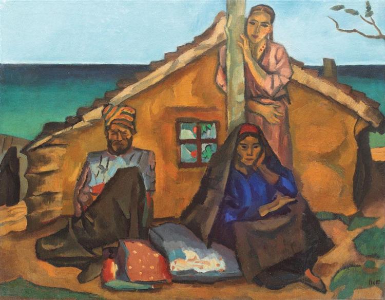 Tatar Woman With Mandoline - Iosif Iser, 1946   Artwork