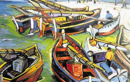 Irma Stern The Hunt Fishing Boats Irma Stern