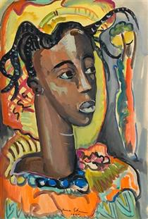 Portrait of a West African girl - Irma Stern