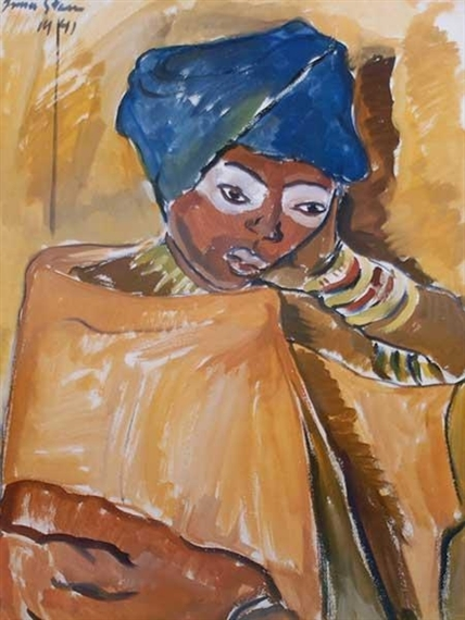 Irma Stern The Hunt Zanzibar Lady Irma Stern