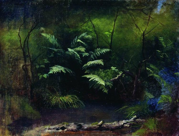 Ferns by the water, 1895 - Isaac Levitan