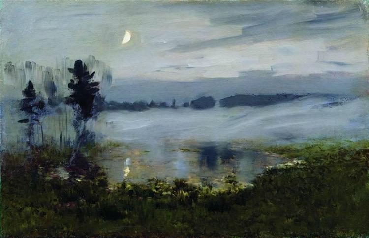 Fog over water, c.1895 - Isaac Levitan