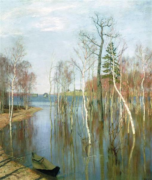 Spring. High waters., 1897 - Isaak Iljitsch Lewitan