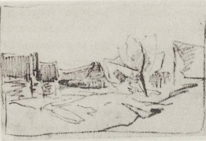 Village Savvinskaya near Zvenigorod, 1884 - Isaac Levitan