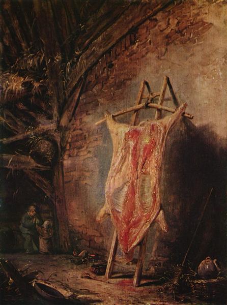 The Cut Pig, c.1640 - c.1645 - Isaac van Ostade