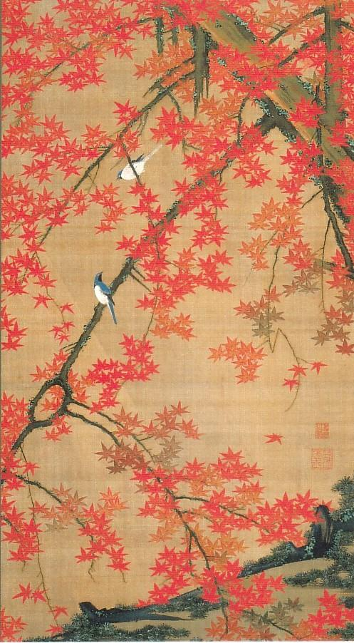 Maple Tree and Small Birds