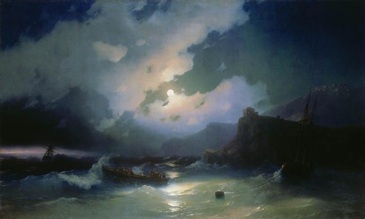Island Of Patmos 1854 Ivan Aivazovsky