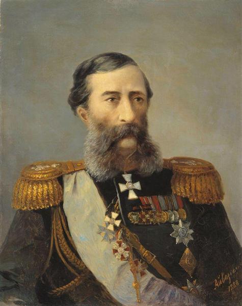 Portrait of Loris-Melikov, 1888 - Іван Айвазовський