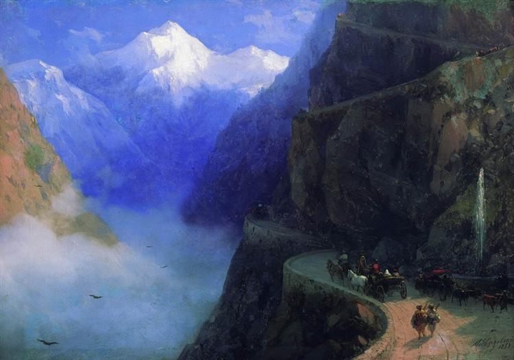 Roads of Mljet to Gudauri, 1868 - Ivan Aivazovsky