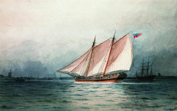 Sailing ship - Ivan Aivazovsky