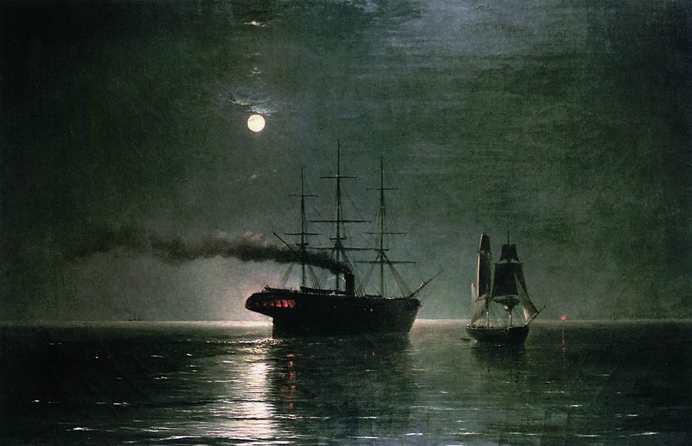 Ships In The Stillness Of The Night 1888 Ivan