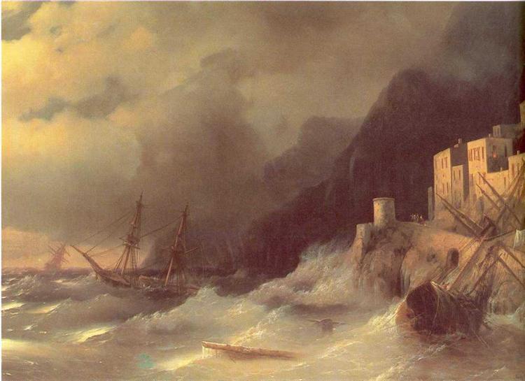 Tempest, 1850 - Ivan Aivazovsky