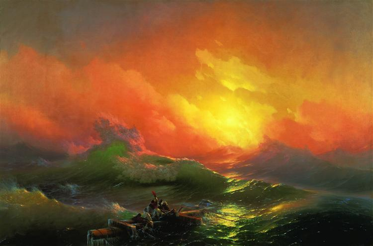 The Ninth Wave, 1850 - Ivan Konstantinovich Aivazovskii