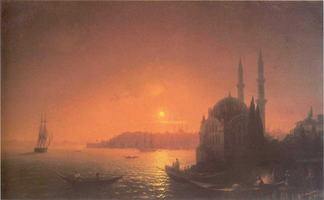 View of Constantinople by Moonlight, 1846