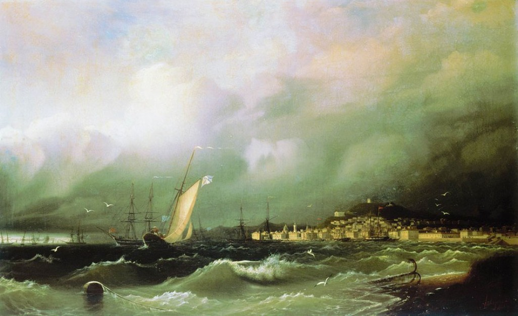 View of Feodosiya, 1845