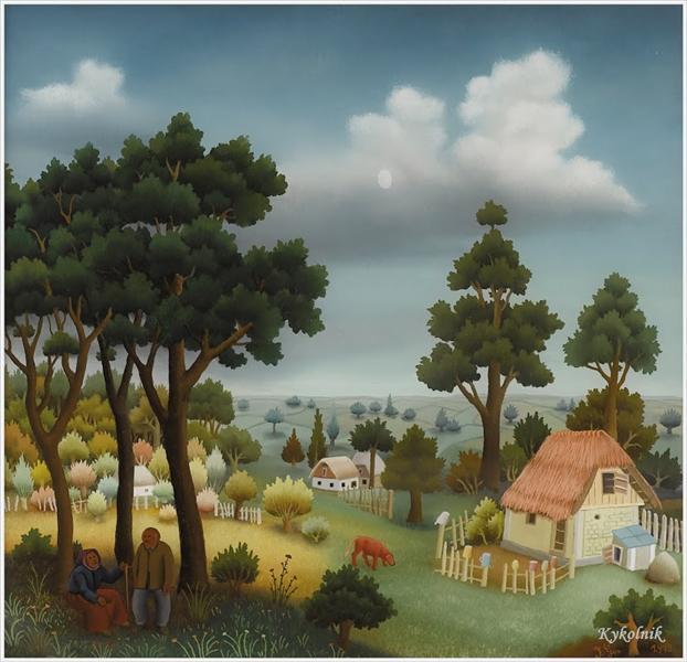 Landscape with Two Figures, 1979 - Ivan Generalić