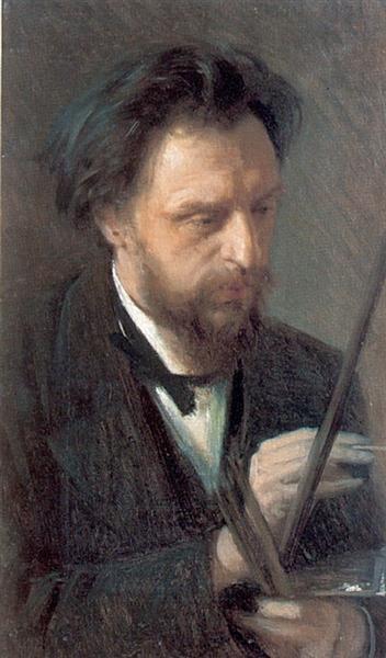 Portrait of the Artist G.G. Myasoedov, 1872 - Ivan Kramskoy