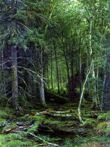 Backwoods, 1872 - Ivan Shishkin