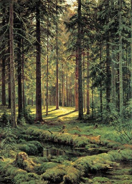 Coniferous Forest. Sunny Day, 1895 - Ivan Shishkin
