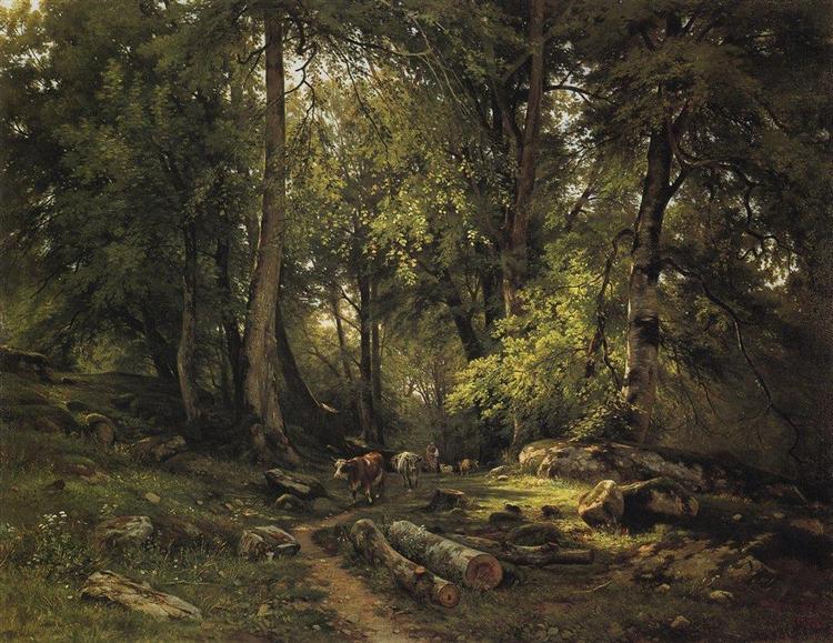 Herd in the forest, 1864 - Ivan Shishkin