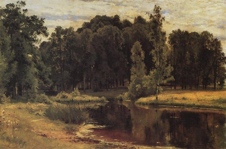 Pond in a Old Park - Iván Shishkin