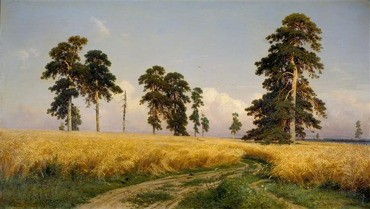 The Field of Wheat - Iván Shishkin