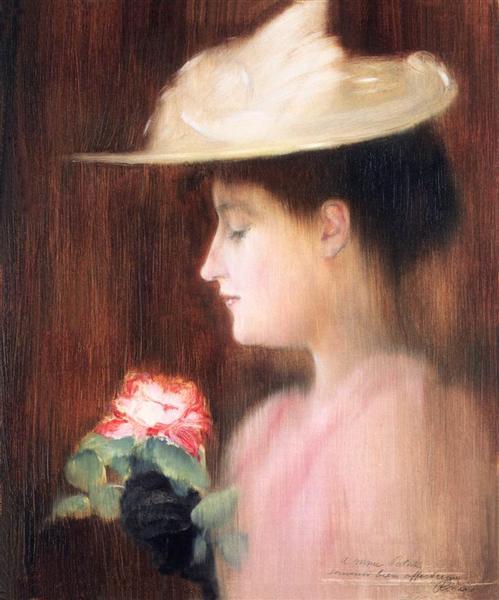 Portrait of Mrs. Pataki, 1892 - Jozsef Rippl-Ronai