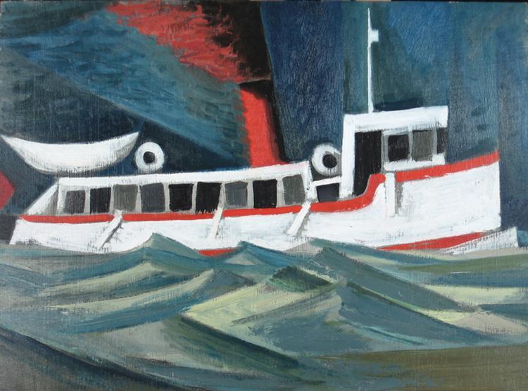 Ferry at Bigwin Island, 1952 - Jack Bush
