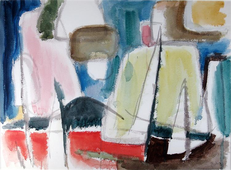 Sailboats, Lake of Bays, 1953 - Джек Буш