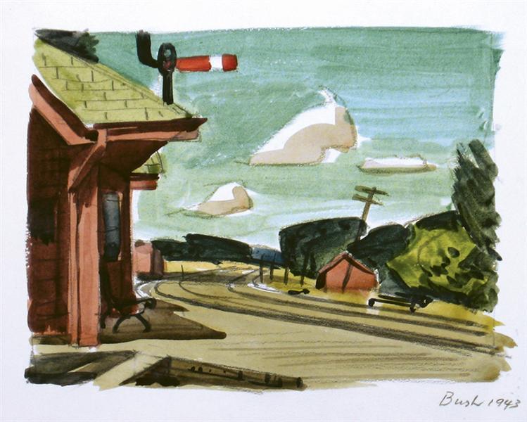Untitled, Train Station, 1940 - Jack Bush