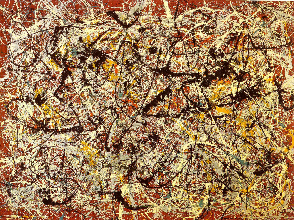 Mural on indian red ground 1950 jackson pollock for Mural jackson pollock