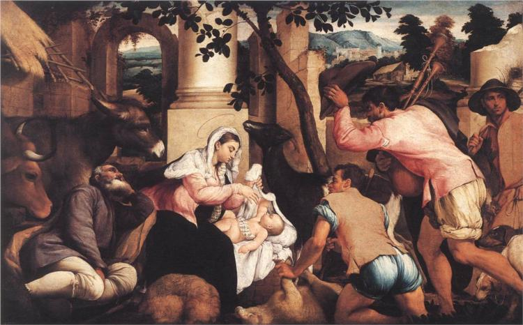 Adoration of the Shepherds, 1545 - Jacopo Bassano