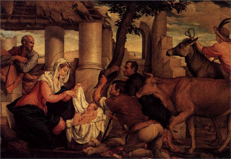 Adoration of the Shepherds, 1550 - Jacopo Bassano