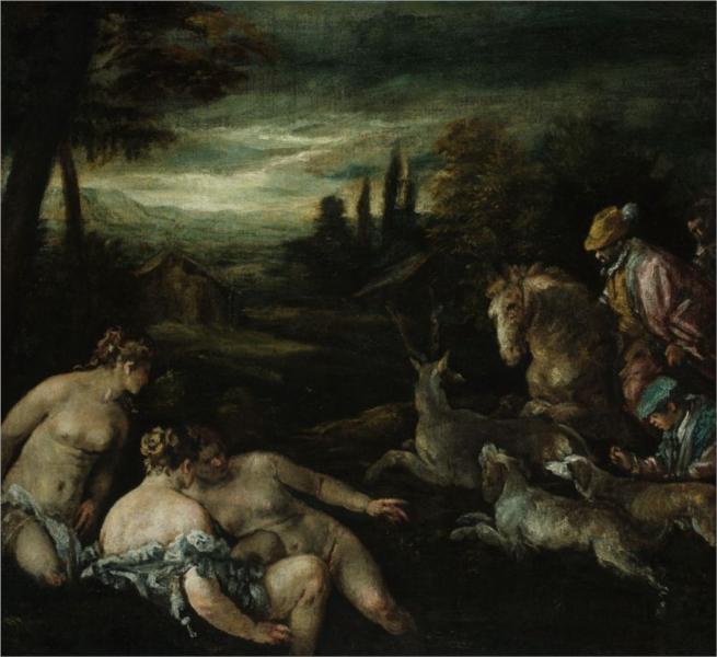 Diana and Actaeon, 1592 - Jacopo Bassano