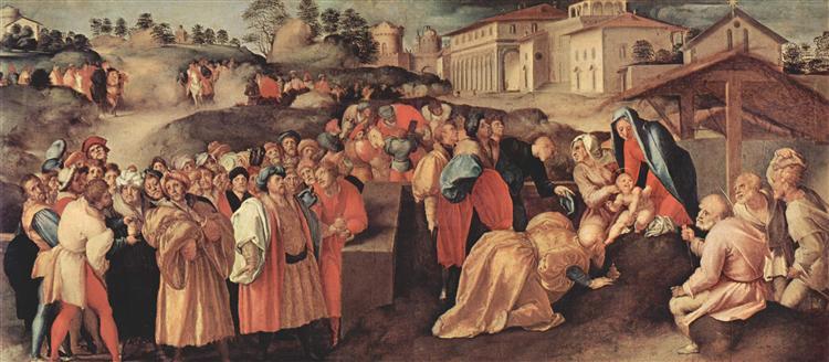 Adoration of the Magi, c.1520 - Jacopo Pontormo
