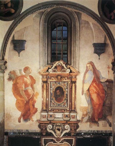 Annunciation, c.1527 - Jacopo da Pontormo